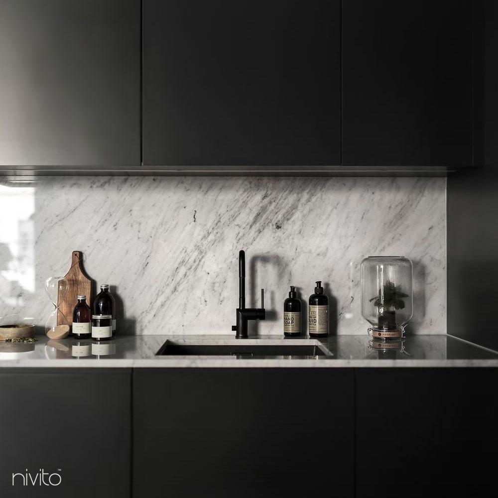 Schwarz küche armatur