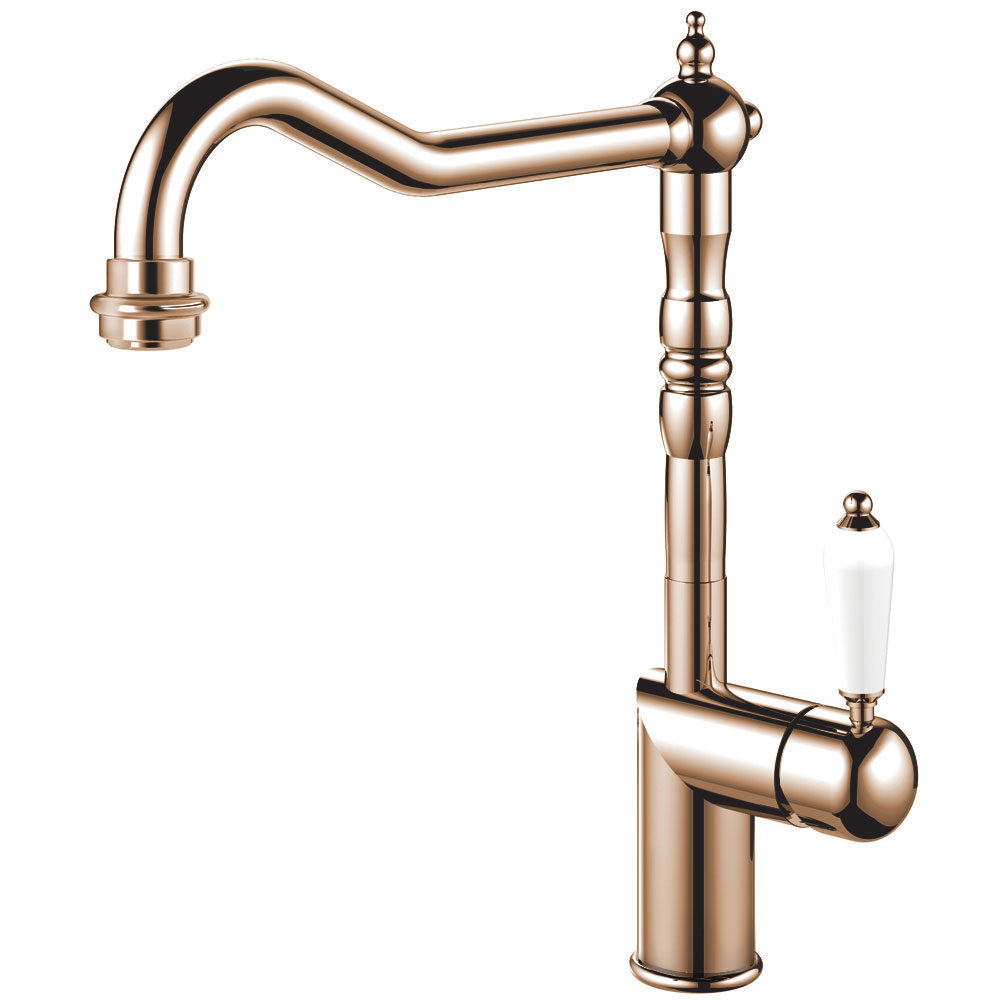 Kupfer Küche Wasserhahn - Nivito CL-170 White Porcelain Handle Color