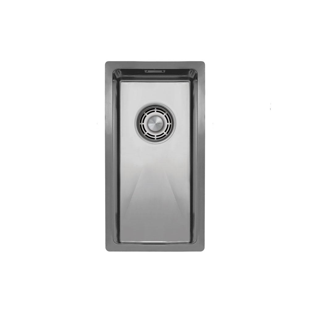 Edelstahl Küchenbecken/Küchenspülen - Nivito CU-180-B Brushed Steel Strainer ∕ Waste Kit Color