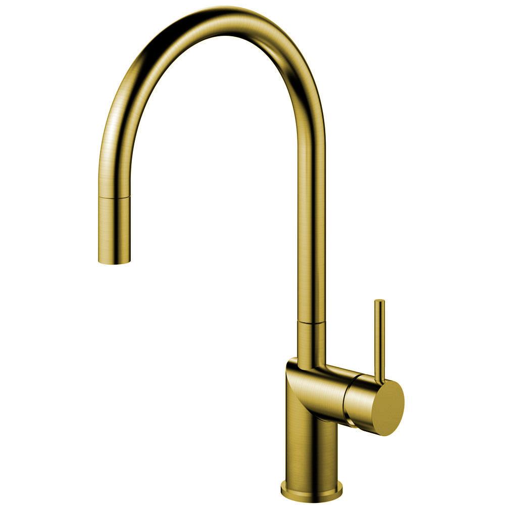 Messing/Gold Küche Wasserhahn Ausziehbarer Schlauch - Nivito RH-140-EX