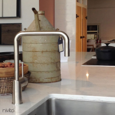 Edelstahl Küchenarmatur - Nivito 3-RH-300