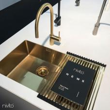 Messing/Gold Küche Waschbecken - Nivito 1-CU-500-180-BB