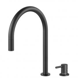 Schwarz Küche Wasserhahn Ausziehbarer Schlauch / Getrenntes Körper/Rohr - Nivito RH-120-VI