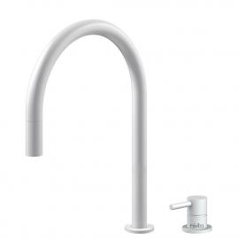 Weiß Küchenarmatur Ausziehbarer Schlauch / Getrenntes Körper/Rohr - Nivito RH-130-VI