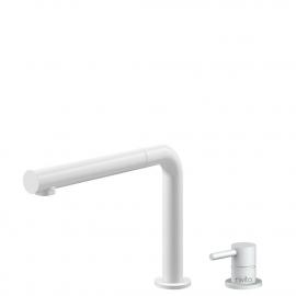 Weiß Küchenarmatur Ausziehbarer Schlauch / Getrenntes Körper/Rohr - Nivito RH-630-VI